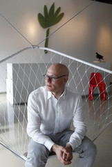 CEO and President of Dacra, Craig Robins poses for a photograph in the company's office in Miami's Design District