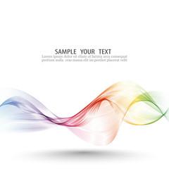 Abstract wave vector background, rainbow waved lines for brochure, website, flyer design. Spectrum wave color. Smoky color wave.