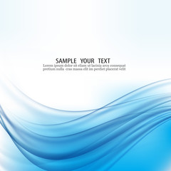 Abstract blue waves background.Abstract vector wave water.Vector EPS10