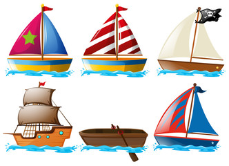 Different kinds of vessels