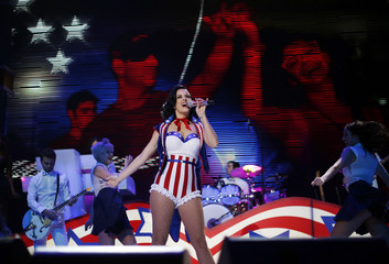 Katy Perry performs at the Kids Inaugural concert for children and military families, one of the events ahead of the second-term inauguration of U.S. President Barack Obama in Washington
