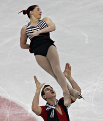Denney and Frazier compete during the pairs free skate at the U.S. Figure Skating Championships in Omaha