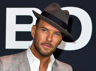 """Matt Goss arrives for the Universal Pictures movie premiere of """"Jason Bourne"""" at Caesars Palace hotel-casino in Las Vegas"""