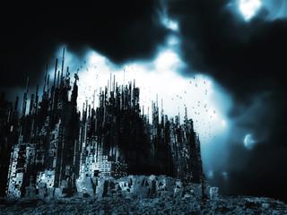 Dead city, 3 D rendering