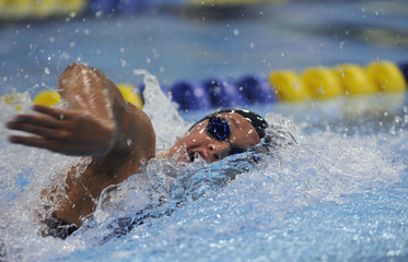 Hoff competes in final for women's 200m freestyle event during USA Swimming Grand Prix Charlotte Ultra Swim at Mecklenburg County Aquatic Center in Charlotte