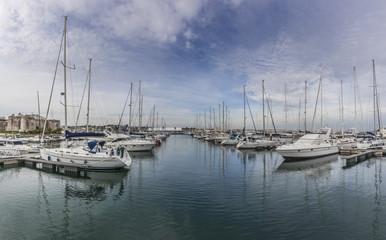 Panorama of the dock of cascais, portugal