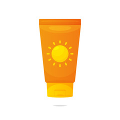 Sunscreen lotion vector isolated illustration