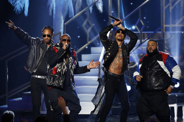 Future, Rick Ross, August Alsina and DJ Khaled perform during the 2016 American Music Awards in Los Angeles