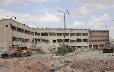 A view of Aleppo's main prison