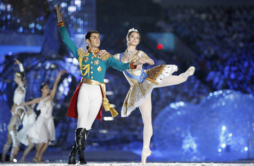 Dancers perform during the closing ceremony of the Vancouver 2010 Winter Olympics