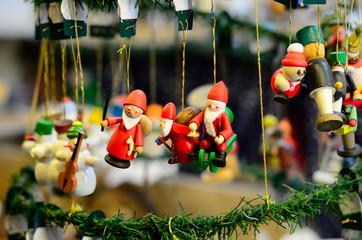 Christmas toys at the fair. Fir Tree Toys