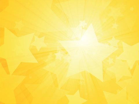 sun rays and stars yellow background