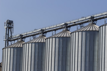 silos in a warehouse