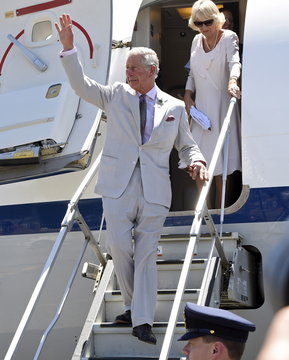 Britain's Prince Charles and Camilla, Duchess of Cornwall, arrive in Albany, Western Australia