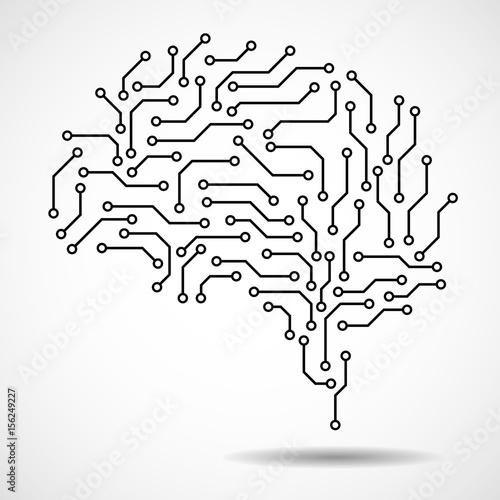 u0026quot technological brain  circuit board  abstract vector background u0026quot  fichier vectoriel libre de