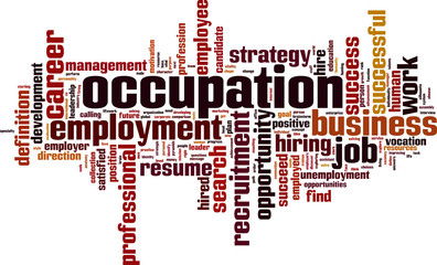 Occupation word cloud