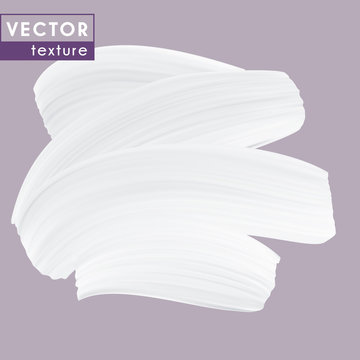 White Cream texture, isolated vector smear