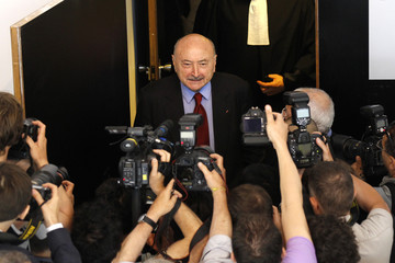 Georges Kiejman, lawyer of Liliane Bettencourt, elderly heiress to the L'Oreal fortune, leaves Nanterre courthouse near Paris