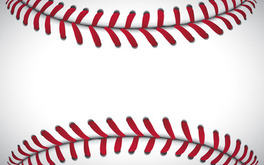 Texture of a baseball, sport background, vector illustration Wall mural