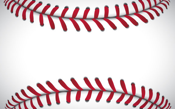 Texture of a baseball, sport background, vector illustration