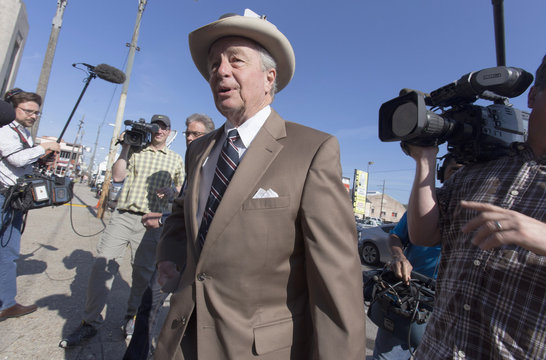 Robert Durst's attorney Dick DeGuerin arrives at a courthouse in New Orleans