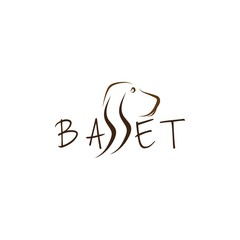 Basset vector illustration
