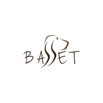 Basset vector illustration