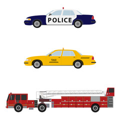 Car vector set