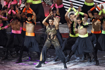 Bollywood actress Padukone performs at at the 14th annual IIFA awards show in Macau