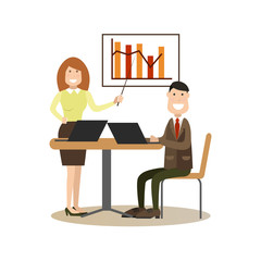 Office people concept vector illustration in flat style