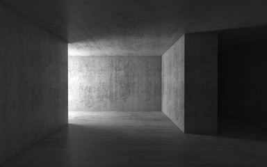 Abstract dark empty concrete interior