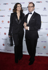Actress Bridget Moynahan and actor Donnie Wahlberg arrive for the International Emmy Awards in New York