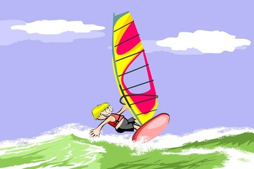 Summer and windsurfing