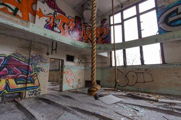 Verlassene Orte Schule Turnhalle Sport