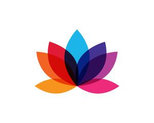 Modern Colorful Lotus Flower Logo