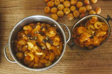 Apricot jam making