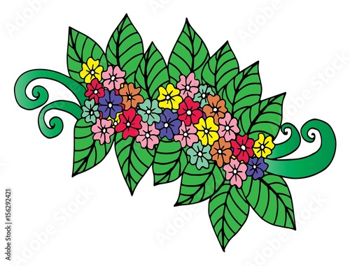 Oodle Floral Pattern In Black And White Page For Coloring Book Very Interesting