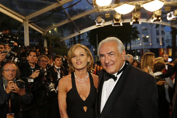 "Former International Monetary Fund chief Dominique Strauss-Kahn arrives for the screening of the restored print of the film ""Plein Soleil"" during the 66th Cannes Film Festival"