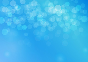 abstract soft light blue background with bokeh