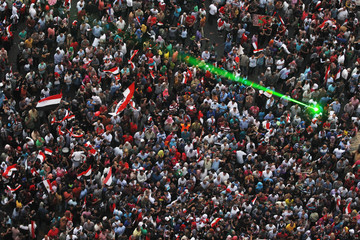 Egyptians celebrate after swearing-in ceremony of president elect Abdel Fattah al-Sissi in Tahrir square in Cairo