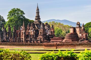 Wat Mahathat temple view in Sukhotai, Thailand