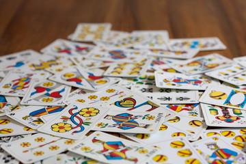 Jasskarten auf dem Tisch