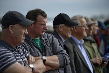 Spectators watch the Irish National Ploughing Championships in Tullamore