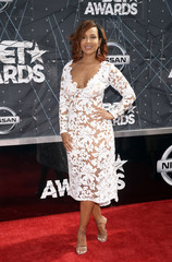 LisaRaye McCoy-Misick arrives at the 2015 BET Awards in Los Angeles