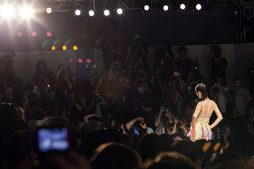 A model presents a creation from the Farah Angsana Spring/Summer 2013 collection during New York Fashion Week