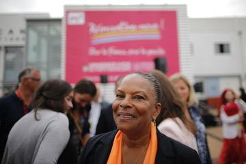 "Taubira attends the Socialist Party's ""Universite d'ete"" summer meeting in La Rochelle"