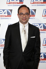 Melloul, CEO of i24 News television channel, poses during a roadshow for the Israel-based broadcast news channel i24 News in Paris