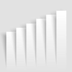 Modern  business growing graphs . Infographics chart. Vector illustration