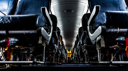 Airplane Interior - Low Angle