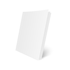 Blank Mock Up cover of magazine, book, booklet, brochure. Illustration Isolated On White Background. Vector